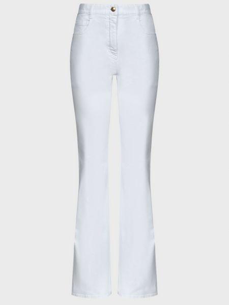Хлопковые белые джинсы на молнии Nina Ricci