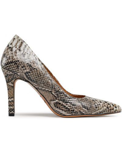 Туфли на каблуке - коричневые R.polański