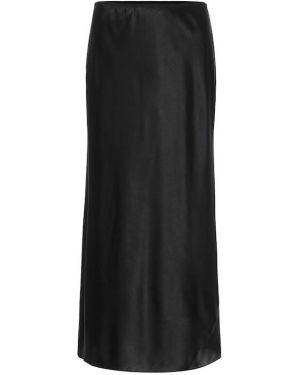 Черная сатиновая юбка миди в рубчик Dorothee Schumacher