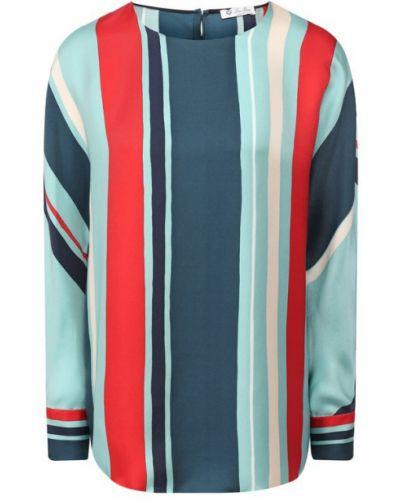 Блузка бирюзовая шелковая Loro Piana