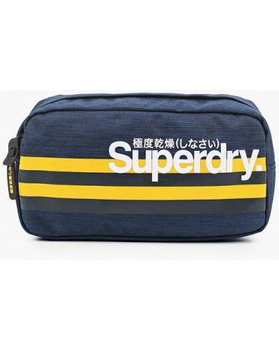 Синяя текстильная поясная сумка Superdry