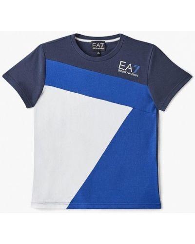 Футболка футбольный синяя Ea7