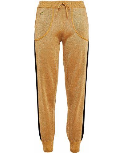 Шерстяные вязаные брюки в полоску Bella Freud