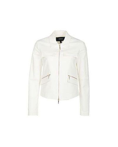 Белая ветровка Armani Jeans