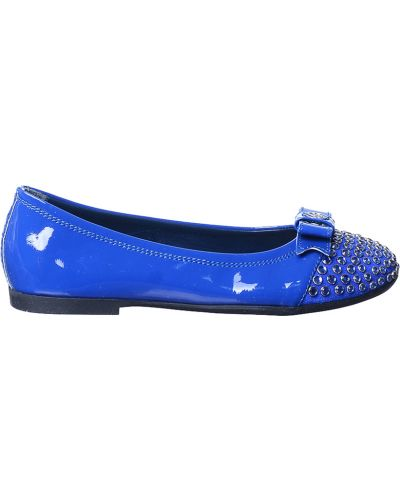 Туфли лаковые синие Miss Blumarine