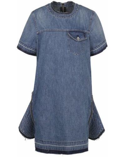 Платье мини джинсовое на пуговицах Sacai