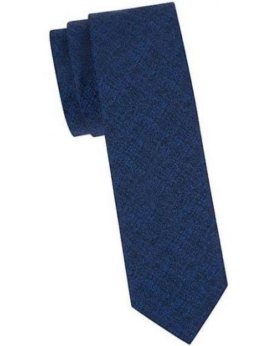 Niebieski krawat z jedwabiu Hugo Hugo Boss