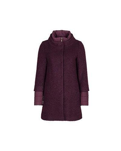 Пальто бордовый шерстяное Herno