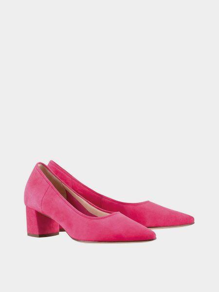 Кожаные лоферы - розовые Hogl