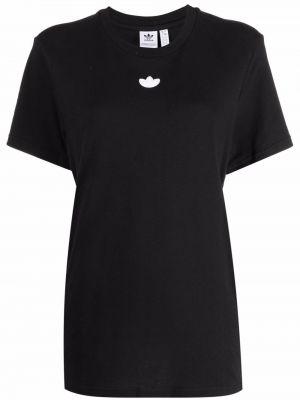 Черная футболка короткая Adidas Kids