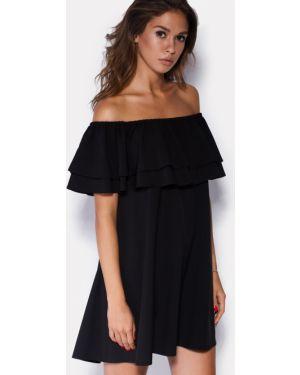 Платье мини с открытыми плечами трапеция Cardo