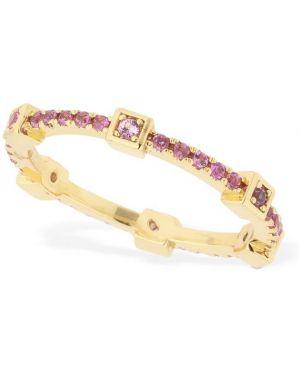 Różowy złoty pierścionek z cyrkoniami Camila Carril