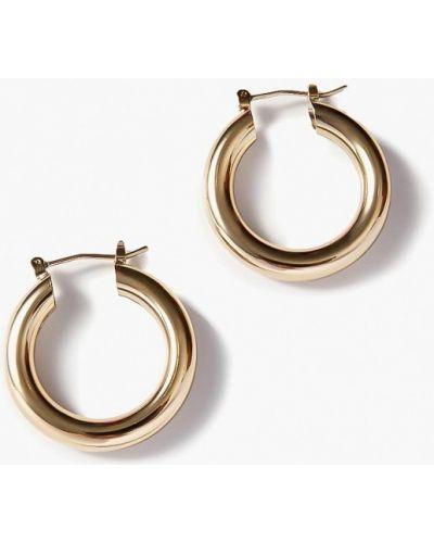 Серьги-кольца золотые Exclaim
