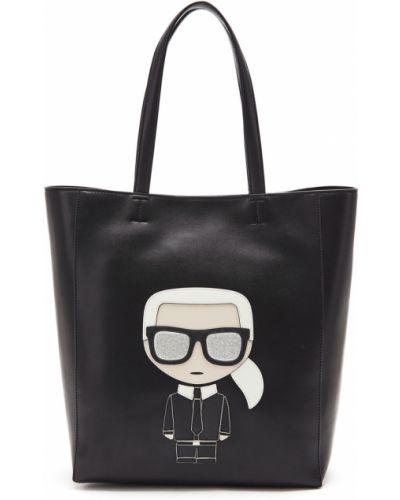 Кожаная сумка большая сумка-тоут Karl Lagerfeld