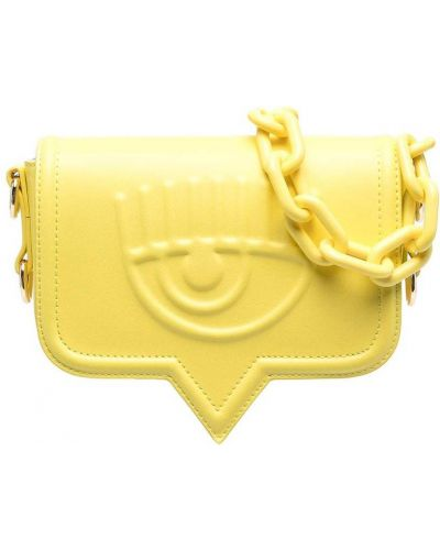 Żółta torebka crossbody skórzana Chiara Ferragni