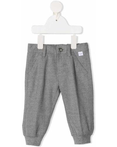 Серые брюки с карманами из вискозы Il Gufo