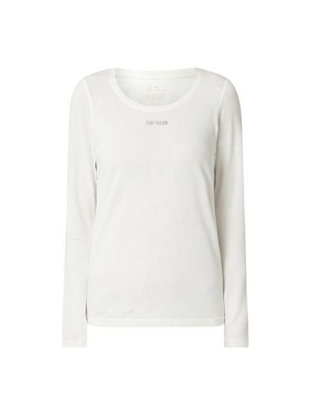 Biała bluzka bawełniana Tom Tailor