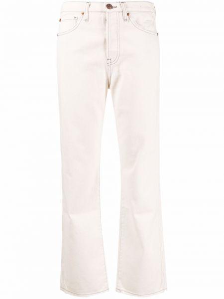 Белые джинсы с карманами 3x1