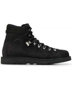 Черные кожаные ботинки Diemme
