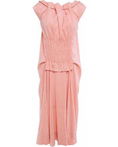 Шелковое платье - розовое Carven