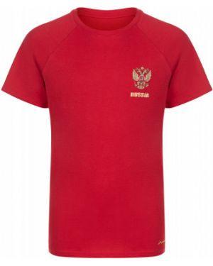 Прямая красная хлопковая спортивная футболка Demix