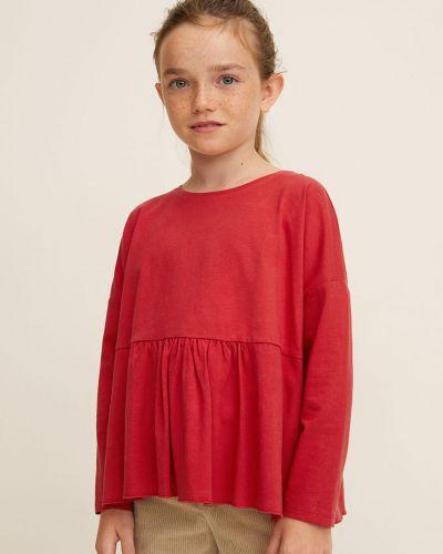 Блуза трикотажная с вырезом Mango Kids