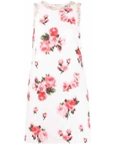 Платье трапеция в цветочный принт с вырезом Blumarine