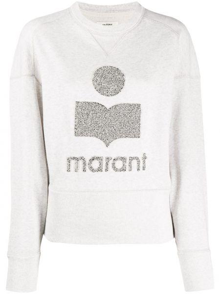 Bawełna prosto biały bluza z długimi rękawami Isabel Marant Etoile