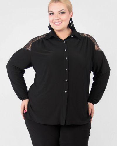 Блузка с длинным рукавом черная Артесса