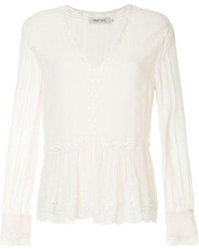 Блузка с длинным рукавом приталенная с вышивкой Magali Pascal