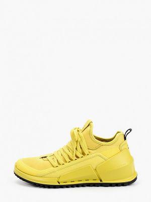 Желтые кроссовки осенние Ecco