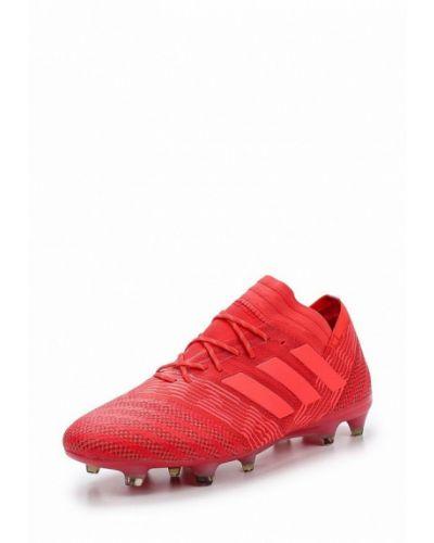 Красные бутсы Adidas