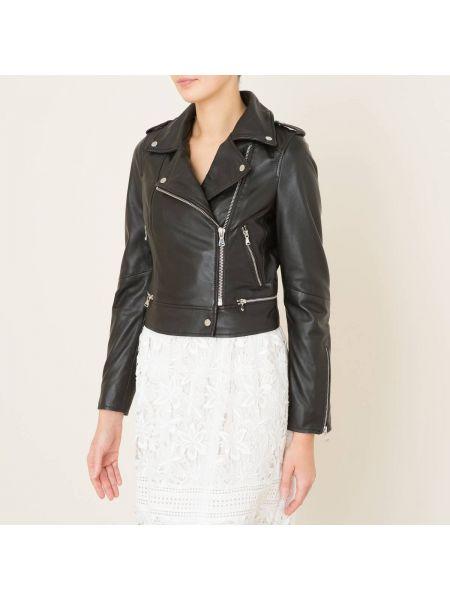 Черная куртка на молнии с манжетами с воротником Oakwood