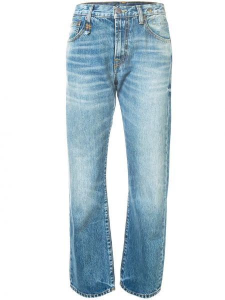 Прямые джинсы синие на пуговицах R13