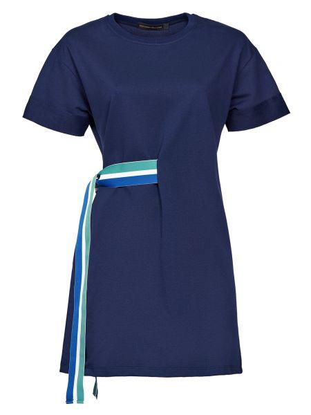 Хлопковое синее платье Alessandro Dell'acqua