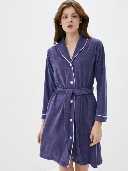 Фиолетовый домашний халат Luisa Moretti