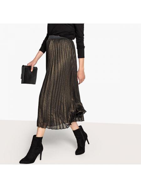 Плиссированная юбка макси эластичная La Redoute Collections
