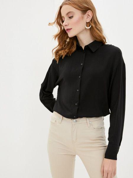 Блузка с длинным рукавом черная весенний Zarina