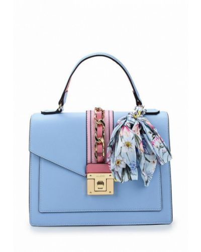 Голубая кожаный сумка Aldo