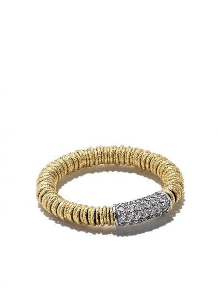 Żółty złoty pierścionek z diamentem Roberto Demeglio