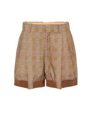 Коричневые хлопковые шорты Chloé