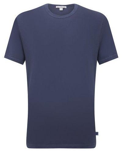 Хлопковая футболка - синяя James Perse