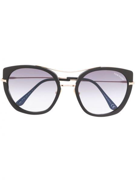Okulary przeciwsłoneczne czarny okrągły Tom Ford Eyewear