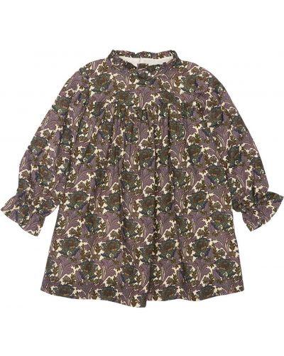 Хлопковое платье - серое Bonpoint