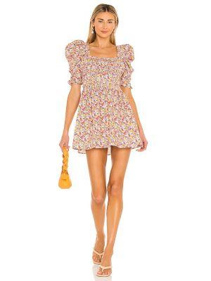 Хлопковое платье мини - оранжевое For Love & Lemons