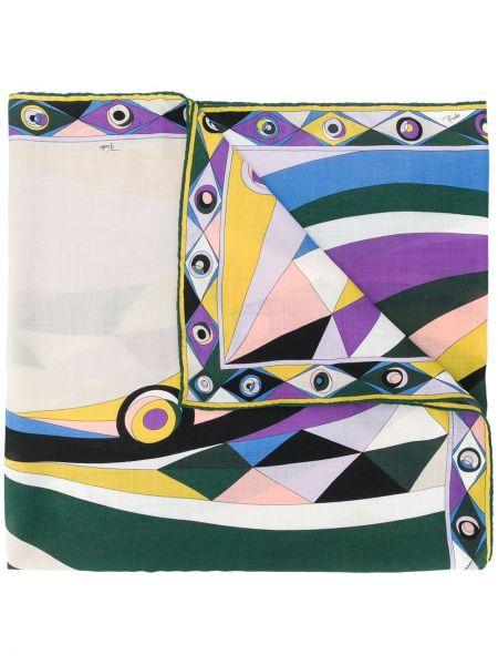 Зеленый шелковый платок Emilio Pucci