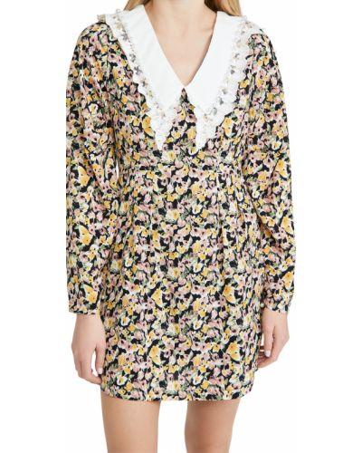 Кружевное платье мини с длинными рукавами в цветочный принт Sister Jane