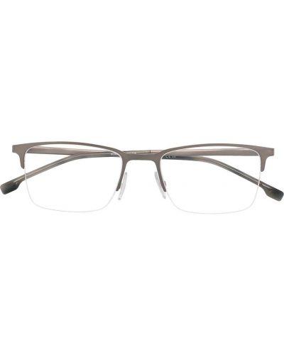 Srebro prosto oprawka do okularów metal Boss Hugo Boss