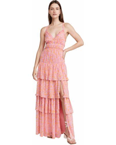 Платье макси - розовое Likely