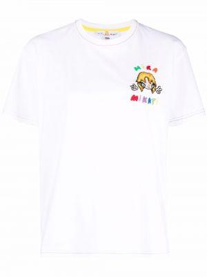 Хлопковая футболка - белая Mira Mikati